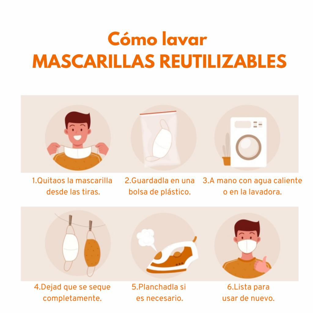 cuándo y cómo lavar mascarillas reutilizables empresa de limpieza valencia