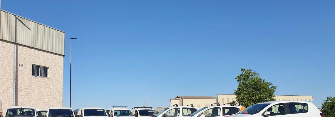 Flota de vehículos Jelos&Guadalaviar empresa de limpieza y mantenimiento en Valencia